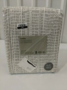 "West Elm MTO Bomu Curtains 48X96"" Stone Grey, Set of 2 Panels NEW Free Shipping!"