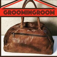 Leather distressed brown traveller handbag designer by Jas M.B. London