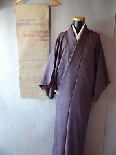 Komon Kimono Purple Silk / Juban under wear / Vintage Nagoya-Obi set s1112