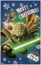 STAR WARS Scene Setter MERRY CHRISTMAS party wall decor Yoda R2D2 C3PO
