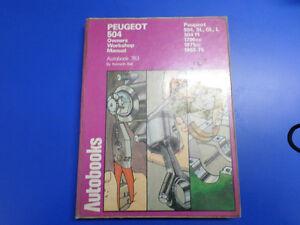 1968-1976 Peugeot 504 Owner's Manual