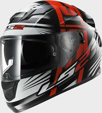 Casco moto integrale LS2 FF320 Stream Bang black Rosso tg.XL visiera sole nero