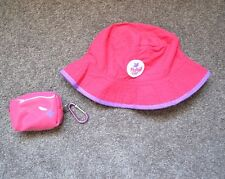 Girls FLOPPY TOPS Sun Hat In A Pouch Reversible - Small 46cm - Brand New - TWINS