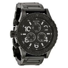 NEW Nixon A037001 Men's 42-20 Chronograph Black Dial Left Handed Titanium Watch