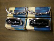 NOS OEM Ford 1970 Galaxie LTD Brougham Roof Side Ornaments Emblems Wreaths 1971