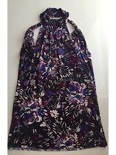 United colors of benetton women top floral purple cotton XS