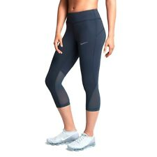 Nike Womens Thunder Blue Epic Lux Tights Running Capris Size L UK 16-18