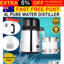 4L Pure Water Distiller 304 Stainless Steel with Glass Jar for Dental Medical