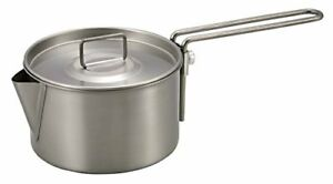 CAPTAIN STAG M-9082 Titanium Kettle Cooker 900ml Outdoor Goods Made in Japan NEW