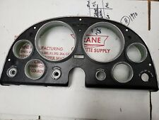 1963 Corvette 327 FULLY RESTORED CLUSTER FACE PLATE dash console 6500 REDLINE