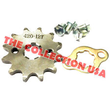 New #420 Chain Front Pinion Sprocket With 12 Teeth 14mm For Atv, Dirt Bike,