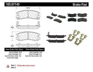 Rr Super Premium Ceramic Brake Pads  Centric Parts  105.07140