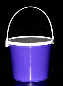 1 80 Oz Bucket  Lid Choice 10 Colors Mfg USA Food Safe Lead Free Dishwasher Safe