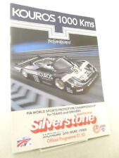 Silverstone Kouros 1000 Kms Motor Race Meeting Programme 5th May 1986