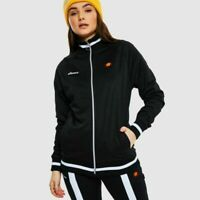 Ellesse Womens Track Top Jacket Retro Arianna Full Zip Black New