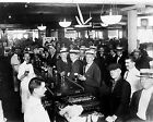 Crowded New York Bar Moments before Wartime Prohibition Starts - 1919 Photo