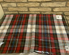 Pottery Barn Declan Lumbar Pillow Cover Plaid Red Ivory 16x26 Christmas New