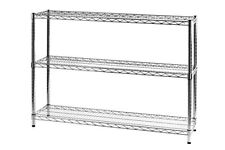 Archimede Sistema componibile Scaffale tre ripiani metallo cromato 121 (d4n)
