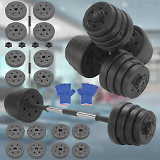 30kg Dumbbell Gym Weights Set Fitness Workout Sturdy Home Exercise Training