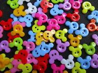 lot 10 Bouton mixte 2 trou Mickey Scrapbooking Mercerie art créatif couture déco