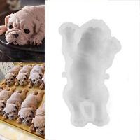 Moule en silicone pour chien 3D Moule à glace Colle au chocolat Mousse Cake