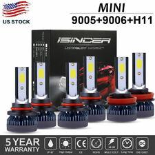 MINI Combo 9005 9006 H11 LED Headlight Kit 2100W 66000LM Hi-Low Beam Bulbs 6000K
