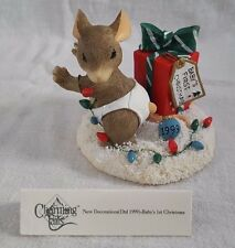 Baby's 1st Christmas (1999) ~ Charming Tails ~ 87/111 (Fitz & Floyd Collectible)