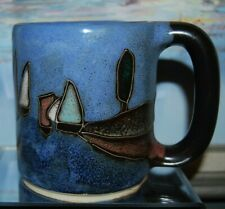 Mara Mug Stoneware Sailboat Coffee Tea Cup Mexico Pottery Handmade Signed