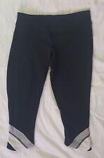 Lululemon Black/White Crop Yoga Workout Pants SIze 4