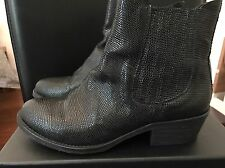 Bottes boots cuir ZINDA neuf sans gebrauchts traces T 37 black