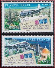2008 FRANCE N°4299/3000** Premier vol ISRAEL-FRANCE, 2008 Set MNH