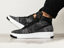 NIKE AF1 ULTRA FLYKNIT Mid Baskets Air Force One Gym Casual-UK 6 (EU 40) Oreo
