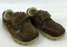 Healthtex Boys Toddler 8 Suede Leather Brown Boat Shoes 6007918