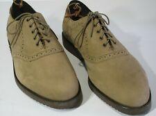 0d2f7ccf346 New E T Wright Saddle Shoes 12 4E Extra Wide Tan Nubuck Vibram Gumlite Soles