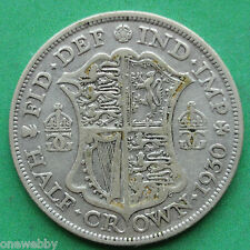 1930 George V Silver Half-Crown SNo30841