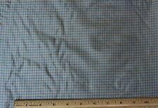 "Gold/Turquoise Tissue Taffeta Checks 100% Silk Fabric 44"" Wide By Yard (SD-691B)"