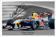 * MARK WEBBER * Large signed poster of Formula 1 star. Perfect present!