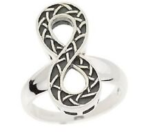 Sterling Silver Celtic Style Oxidized Weave Center Ring 9 NEW J19894, Infiniti