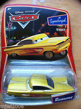 Disney PIXAR Cars YELLOW RAMONE Supercharged diecast gold Impala retired