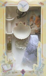 New Boys Girls Christening Baptism Candle Box Gift Set Shell Missal English New