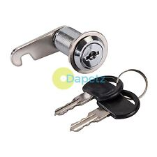 32mm Cam Lock For Filing Cabinet Mailbox Drawer Locker  Secure Keys