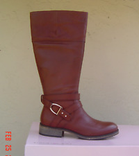 NEW BANDOLINO  BROWN LEATHER TALL RIDING BOOTS  SIZE 8.5 M  $149
