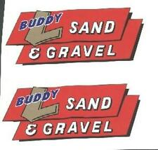 BUDDY-L SAND AND  GRAVEL DECAL SET