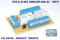 Platine relais electromécanique bistable - 4RT - Clone JOUEF 9893
