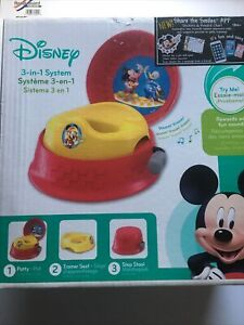 The First Years Mickey Mouse Roadster Racers 3-in-1 Potty (Refreshed) Free Shipp