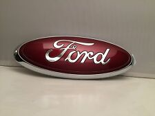 "Ford 2005-2014 F150 Front Grille or Tailgate Emblem Oval 3D Ruby Red 9"".""PAINT"""