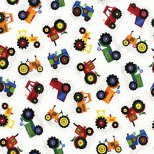 TRACTORS by Timeless Treasures Fabric Novelty John Deere Farmer Farming Quilting
