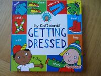 MY FIRST WORDS GETTING DRESSED  BOARD BOOK - toddler, boy, girl - learning - NEW