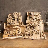 ROKR Marble Roller Coaster Building Kits Mechanical Gear Model Construction Set