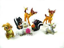 Kids 7pcs set Bambi Thumper Flower Figure Rabbit Bunny Figurine Toy Cake topper